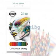 Моливи за рисуване KOH-I-NOOR 24 цвята