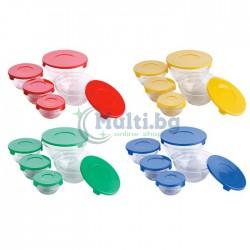 Комплект стъклени купи с капаци