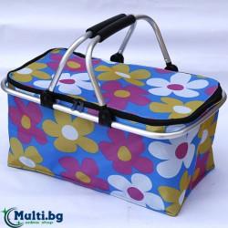 Сгъваема кошница за пазаруване и  пикник