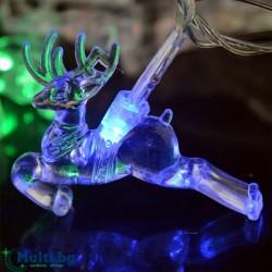 Светещи Коледни LED лампички Еленчета