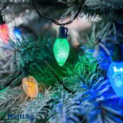 Светещи Коледни LED лампички Шишарки