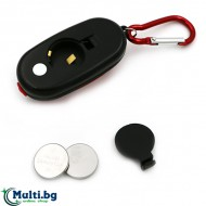 Мини LED фенерче с карабинер и магнит