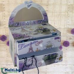 Кутия за Бижута декоративна Lavender