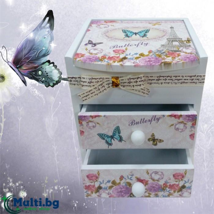 Кутия за бижута Butterfly