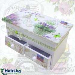 Декоративна кутия за бижута Лавандула