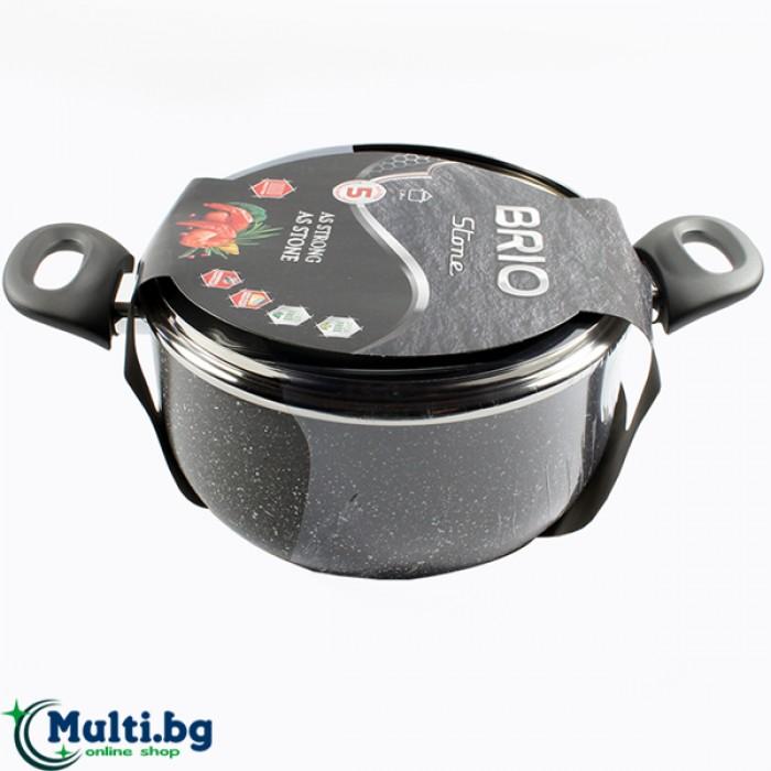 Тенджера за готвене BRIO Stone 24 см
