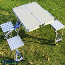 Сгъваема маса за пикник с 4 столчета