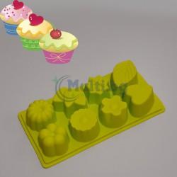 Силиконов молд за печене на сладки и мъфини 8 в 1