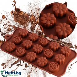 Силиконова форма за шоколадови бонбони