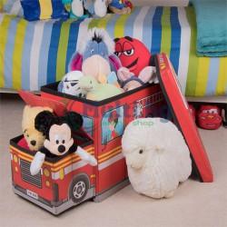 Сгъваема кутия за играчки с две отделения