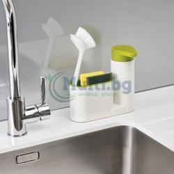 Диспенсър за течен сапун с поставка за гъба