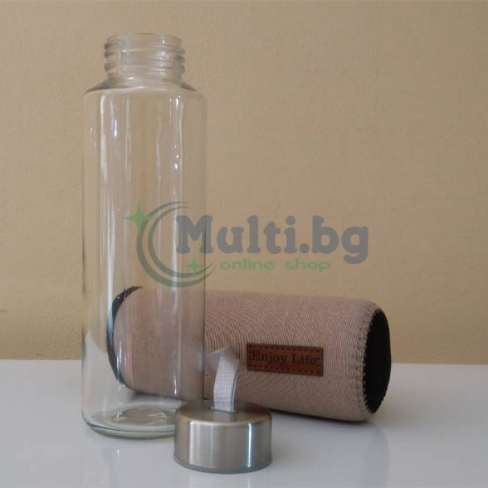 Бутилка за вода с неопренов калъф Enjoy Life