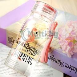 Стъклена бутилка Flamingo 300ml