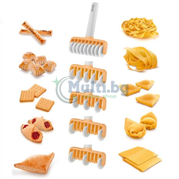 Валяк за тесто със сменяеми резци