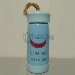 Стъклена бутилка за вода Smile