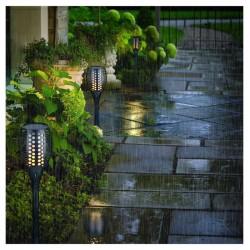 Градинска соларна LED лампа Факел