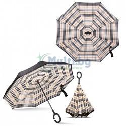 Чадър с обратно отваряне