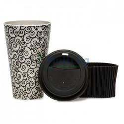 Еко бамбукова чаша със силиконов капак