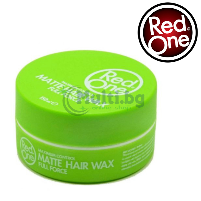 RedOne Вакса за коса Green Matte Hair Wax 150ml