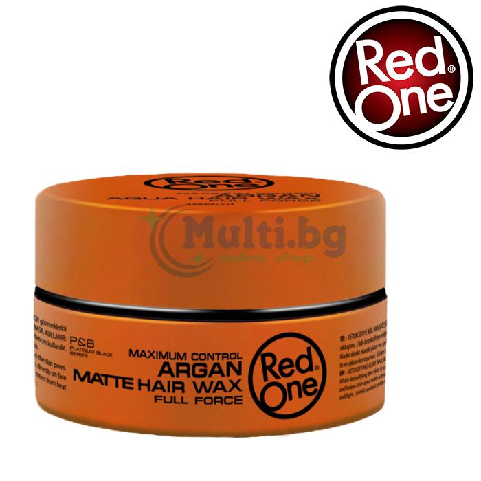 RedOne Вакса за коса Argan Matte Hair Wax 150ml