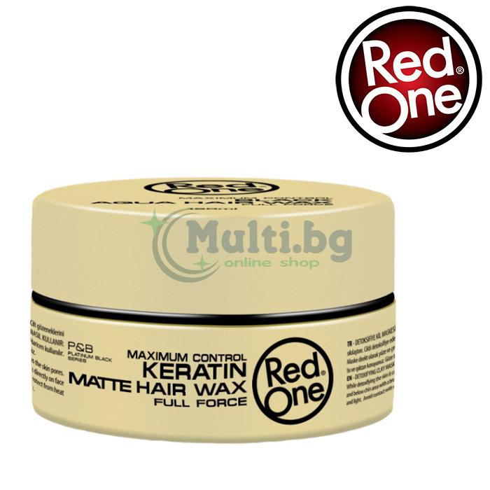 RedOne Вакса за коса Keratin Matte Hair Wax 150ml