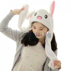 Забавна шапка с мърдащи уши Зайче