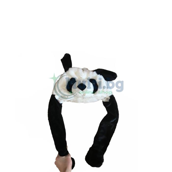 Забавна шапка с мърдащи уши Панда