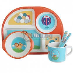 Бамбуков детски ЕКО комплект за хранене