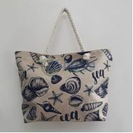 Плажна чанта Раковини