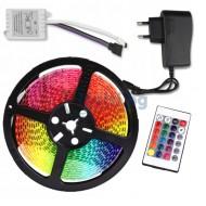 Многоцветна LED лента 5м с дистанционно