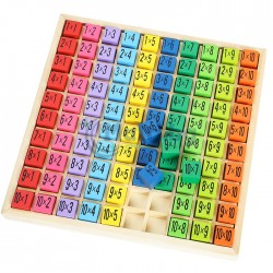 Дървена таблица за умножение
