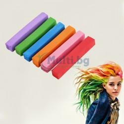 Тебешири за коса 6 цвята