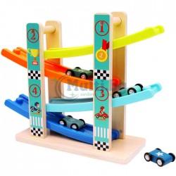 Дървена играчка писта с колички