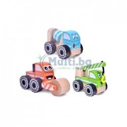 Дървена играчка строително превозно средство