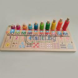 Дървена игра занимателна математика