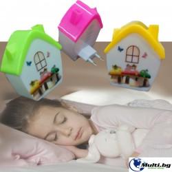 Детска Нощна Лампа Къщичка