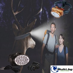 Акумулаторен LED фенер за глава
